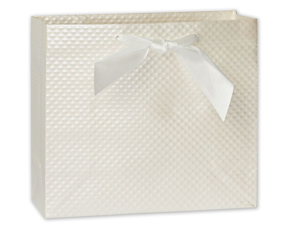 medium wedding textured pearl gift bag
