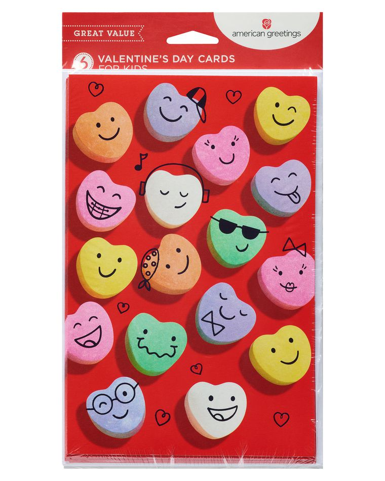 Candy Valentine's Day Card, 6-Count