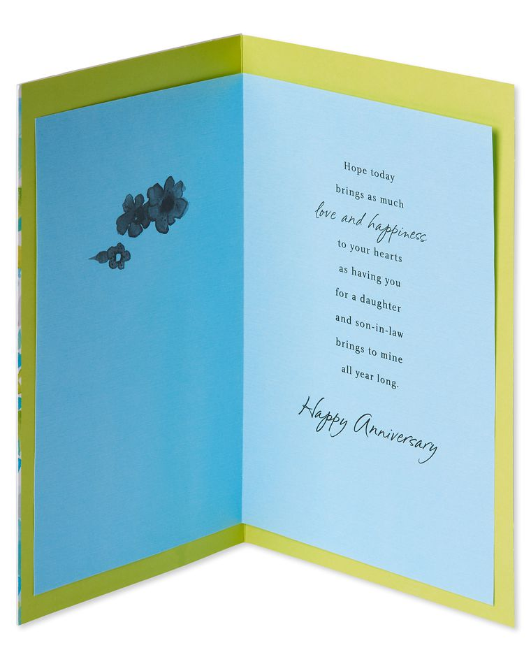 Floral Anniversary Card for Daughter and Son-in-Law