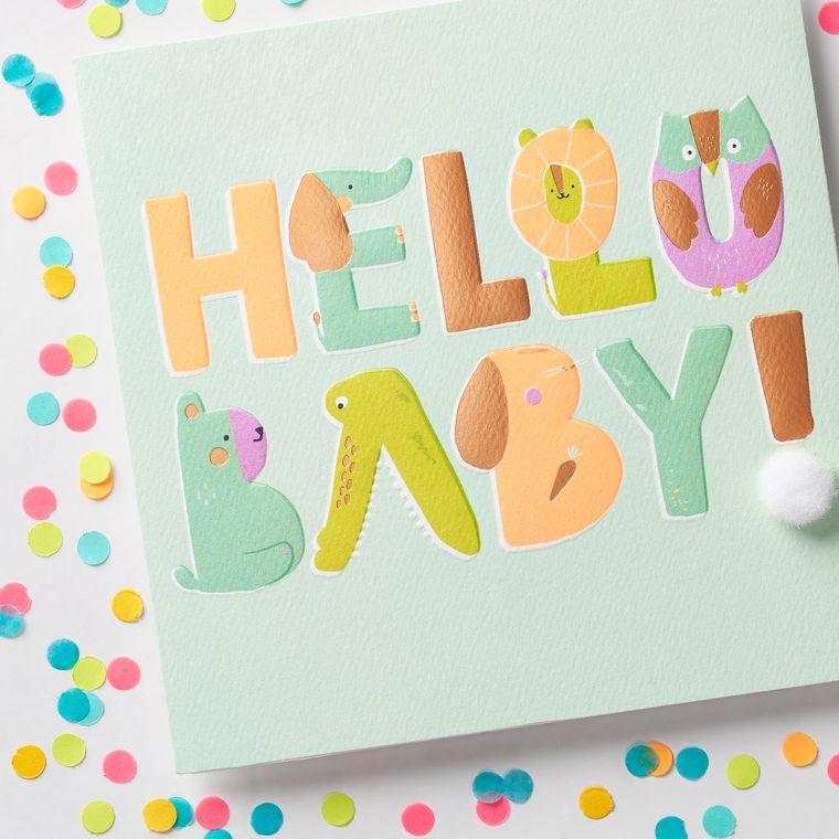 Hello Baby Congratulations Card