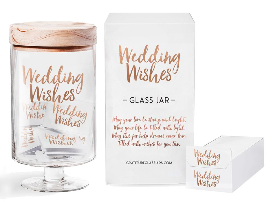 Wedding Wishes Glass Jar