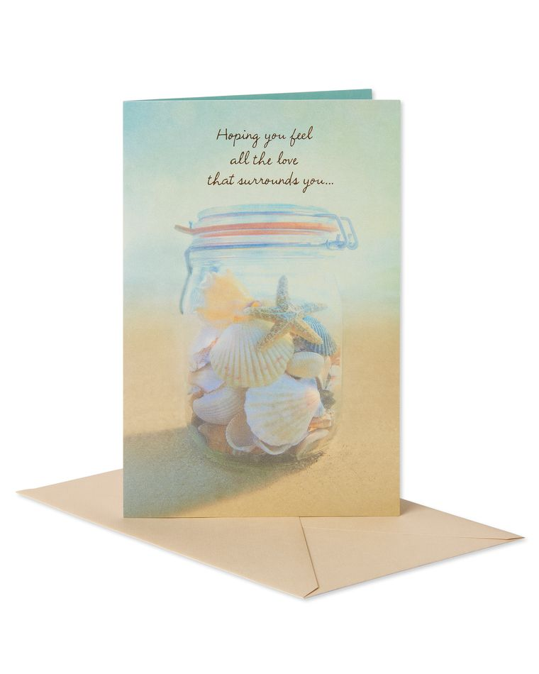 Seashells Sympathy Card