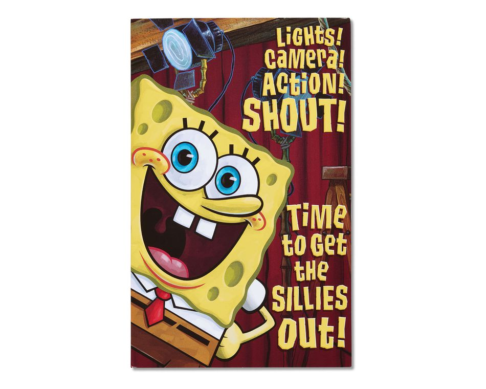 Spongebob SquarepantsTM Singing Birthday Card