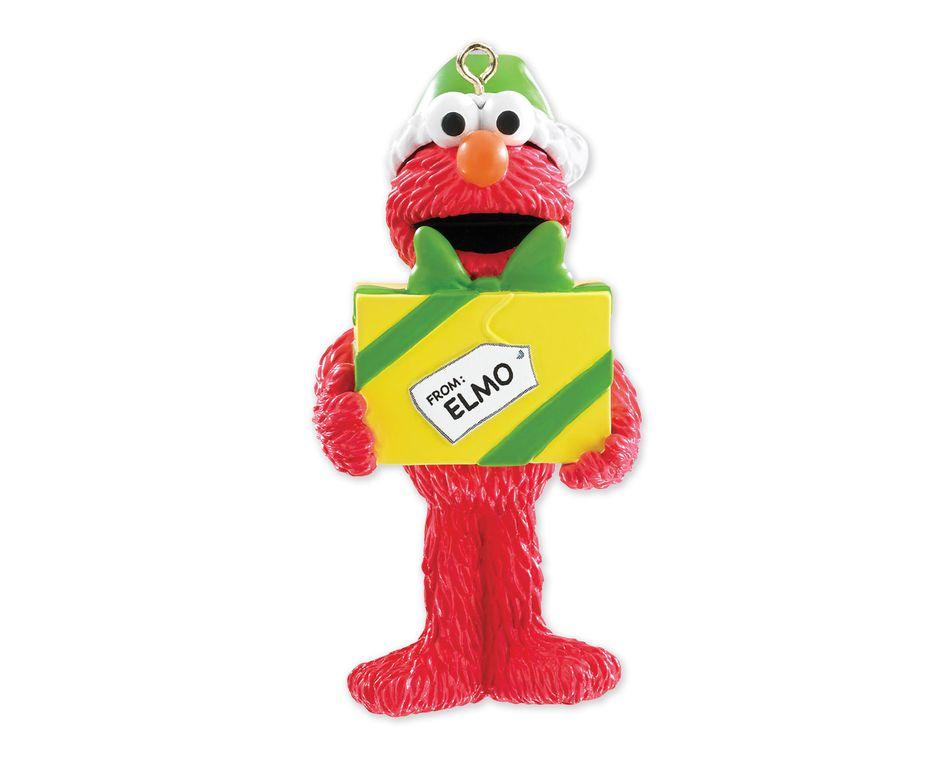 Elmo Present Christmas Tree Ornament