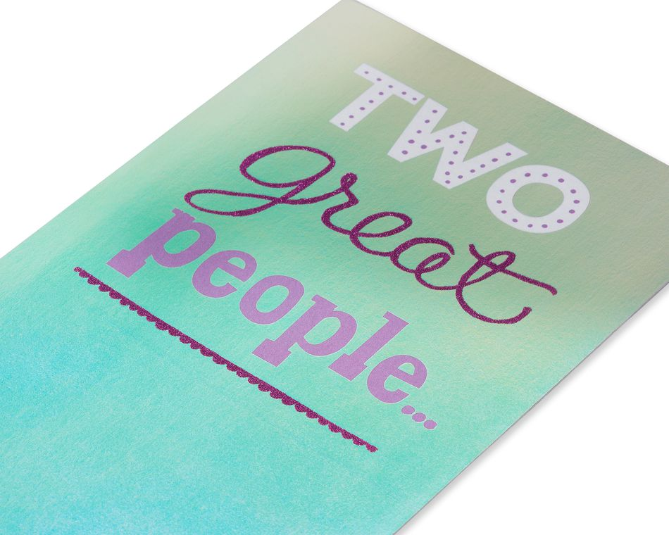 Great People Anniversary Card for Couple