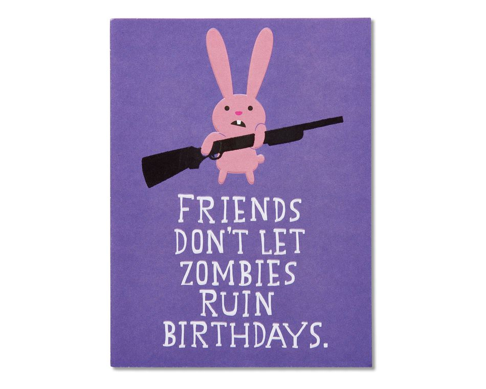 funny zombie birthday card