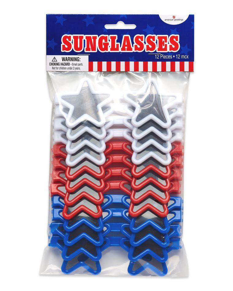Patriotic Star Sunglasses, 12-Count