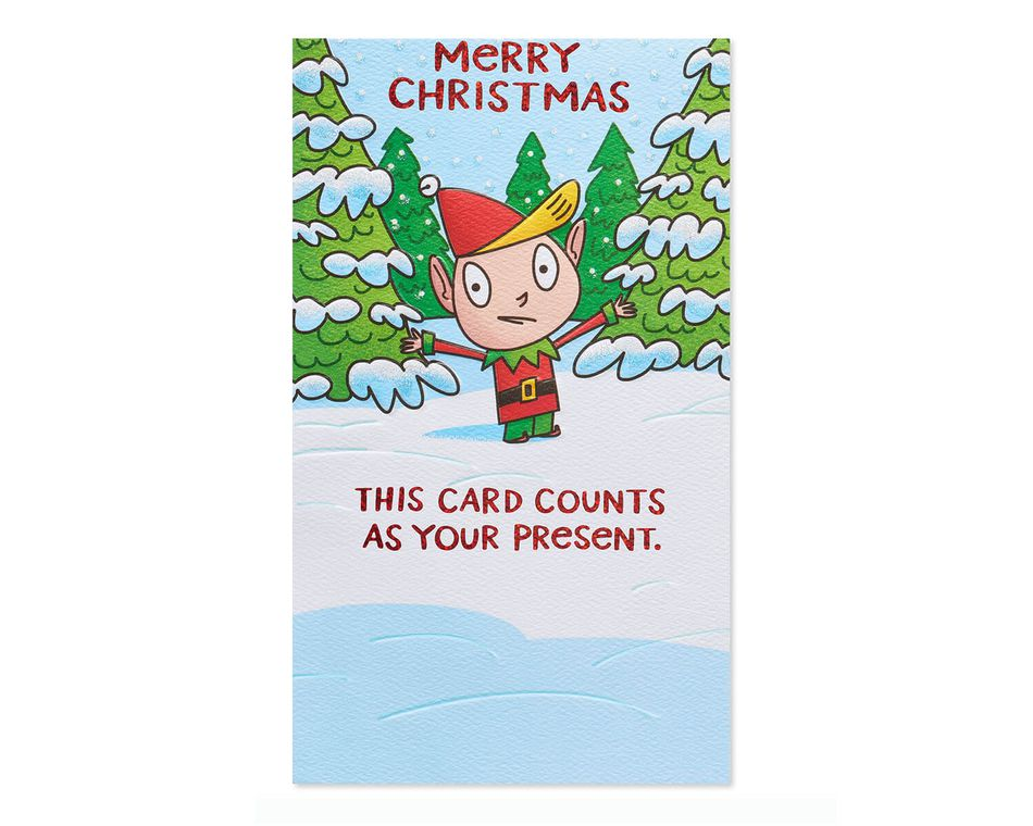 Funny Christmas Card Messages.Funny Present Money And Gift Card Holder Christmas Card