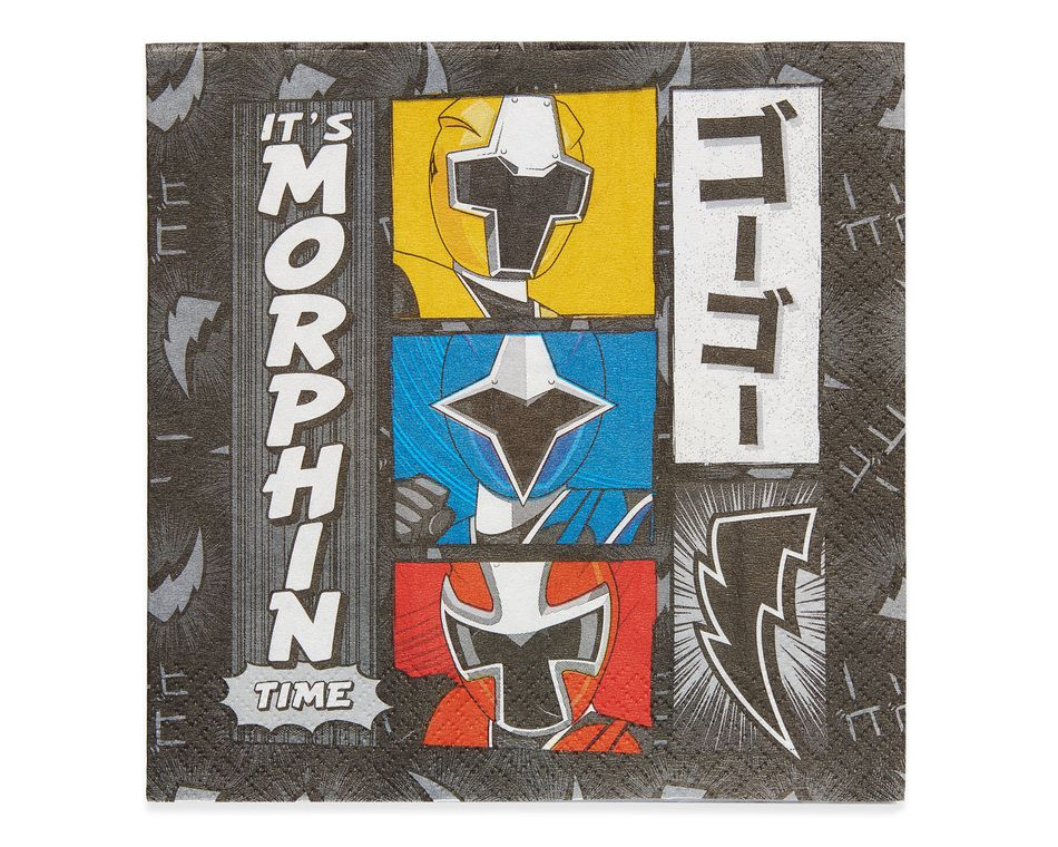 Power Rangers Ninja Steel Lunch Napkins, 16 Count