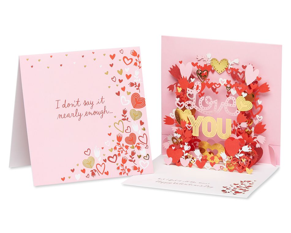 Love You Pop-Up Valentine's Day Card