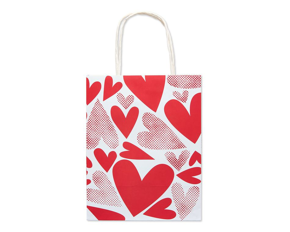 Small Red Hearts Valentine S Day Gift Bag American Greetings