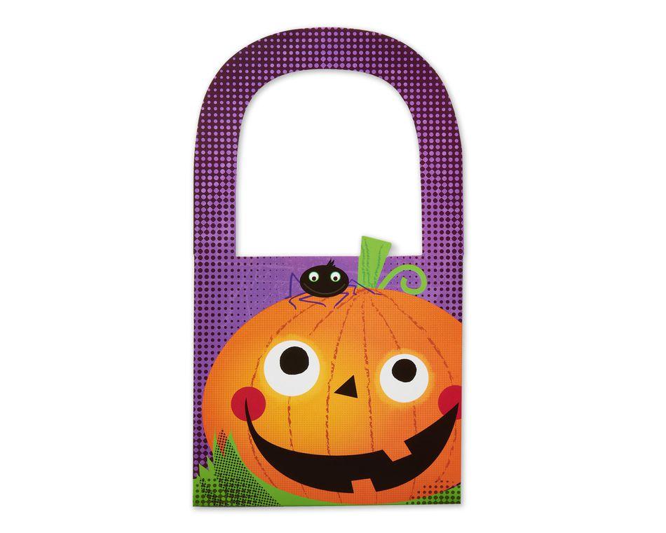Mini Halloween Treat Bag, Smiling Pumpkin