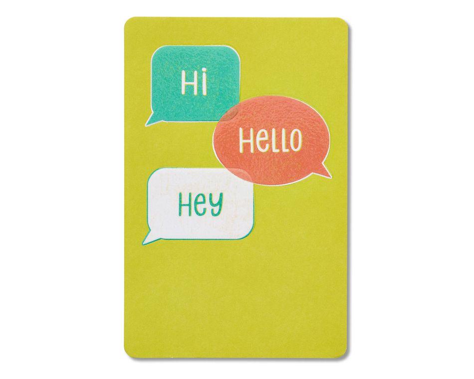 Hi hello hey blank card american greetings hi hello hey blank card m4hsunfo