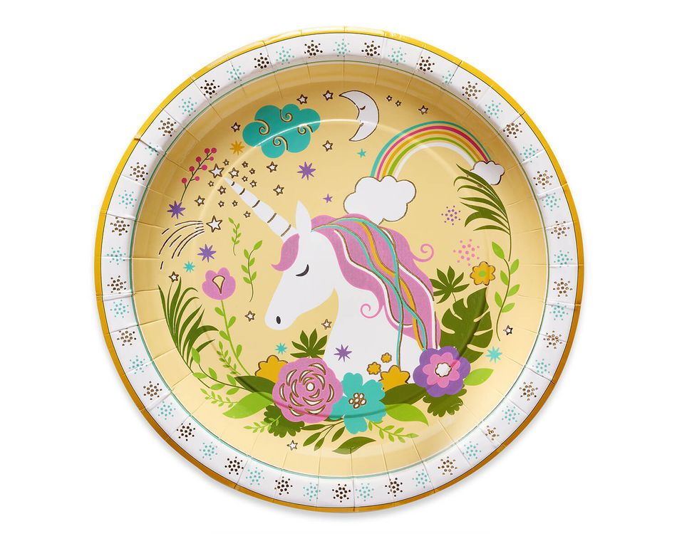 Party Partners Unicorn Dessert Plates, 8-Count