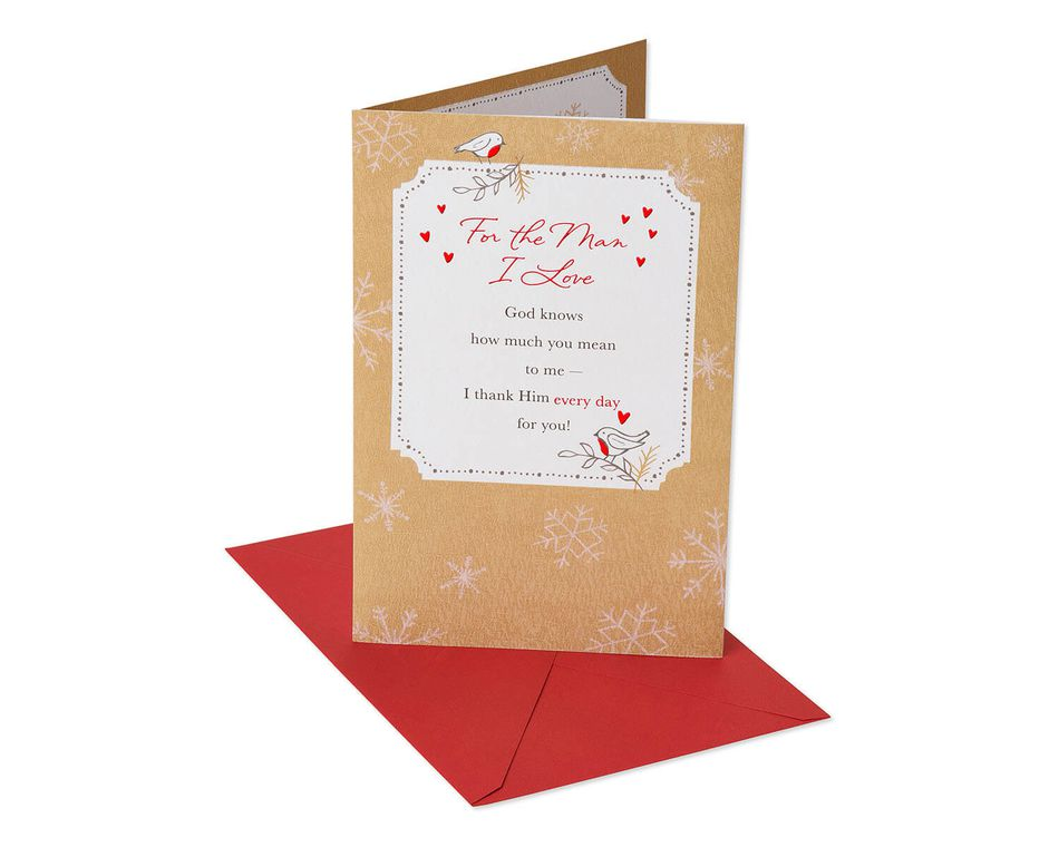 Religious Snowflakes Christmas Card for Husband