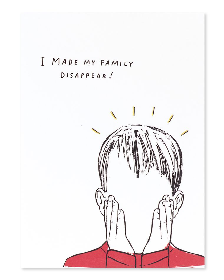 made my family disappear holiday card