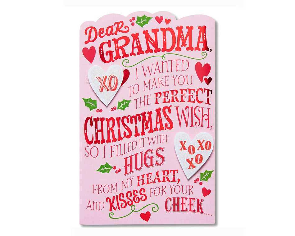 Christmas Wish Christmas Card for Grandma