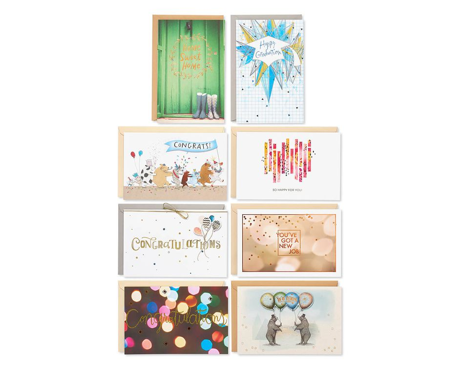 Congratulations Greeting Card Collection, 8-Count