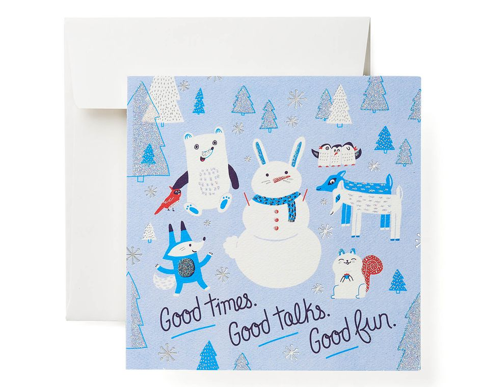 Snowmen Greeting Card - Christmas, Happy Holidays, Happy New Year, Hanukkah