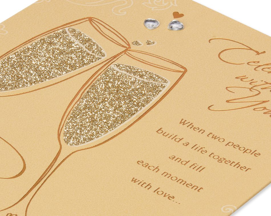 Champagne Wedding Card