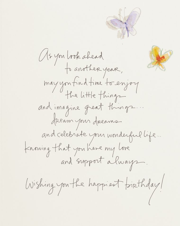 Kathy Davis Floral Birthday Card for Daughter