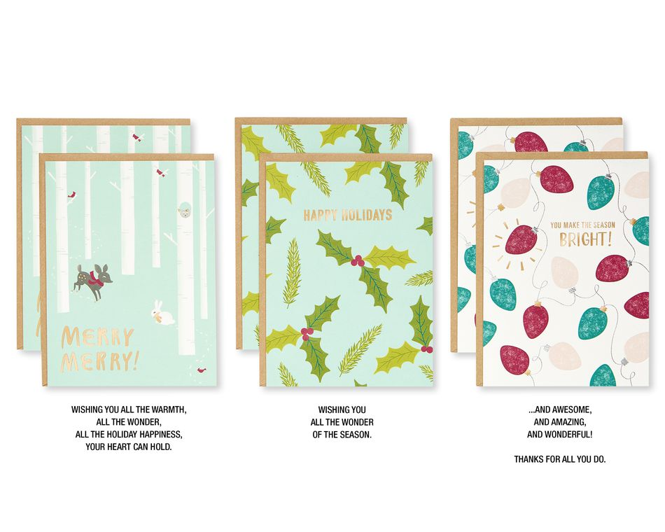 Holiday Premium Greeting Card Bundle, 24-Count
