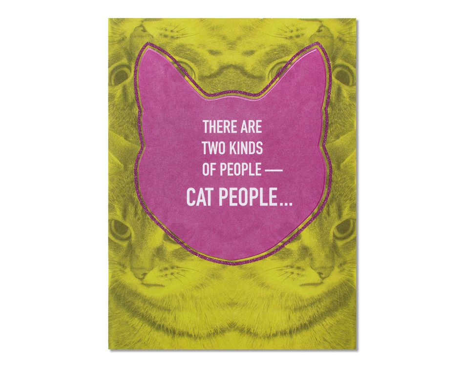 Cat People Thinking of You Card