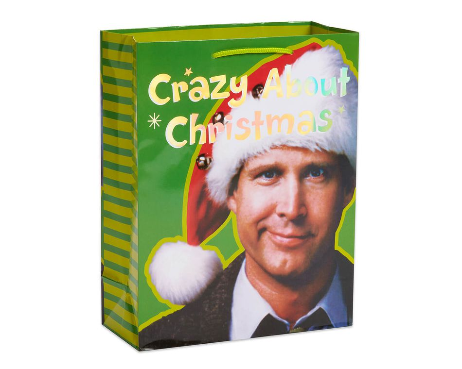medium christmas vacation crazy about christmas gift bag