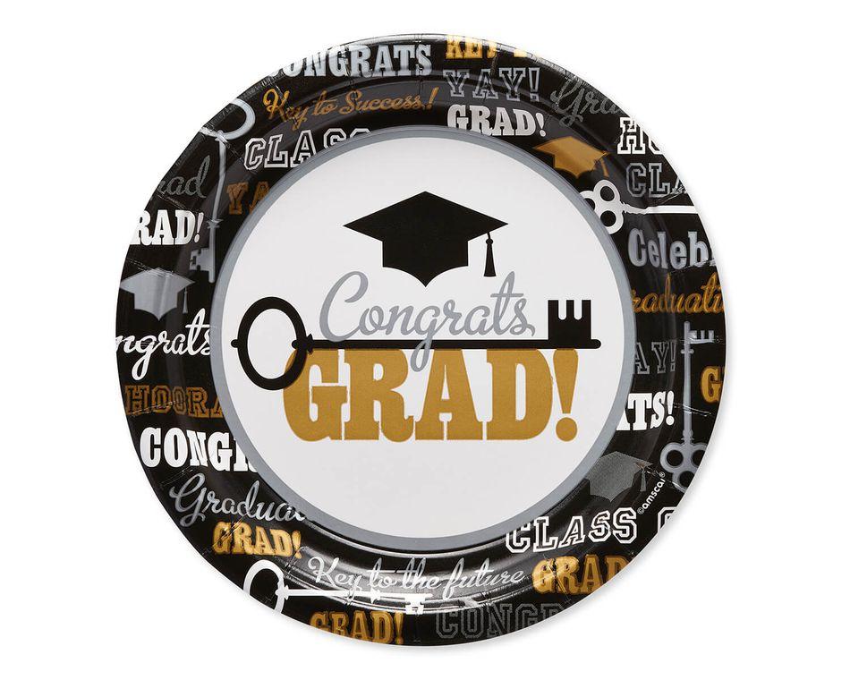 Graduation Paper Dessert Plates, 8-Count