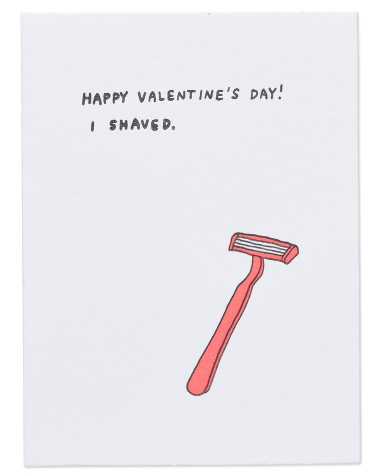 i shaved valentine's day card