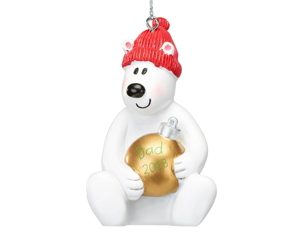 2018 dad polar bear christmas ornament