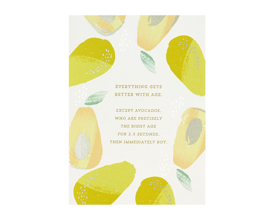 Avocados Birthday Card