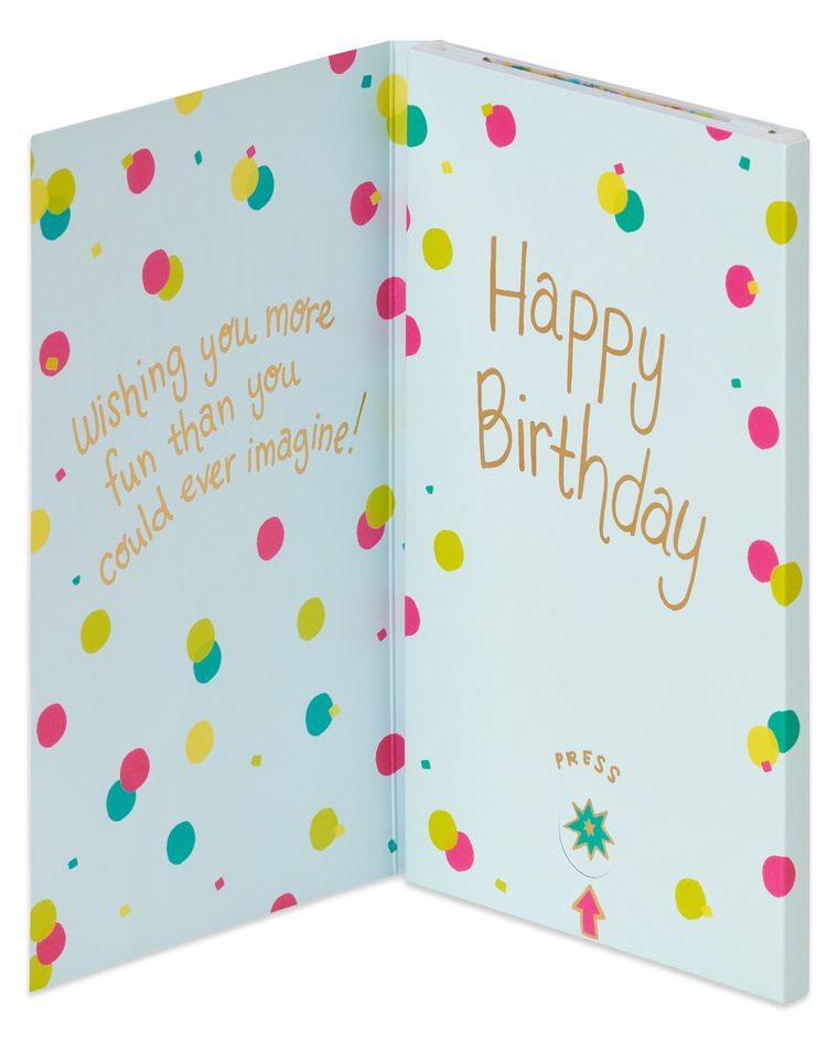 Funny Pop-Up Birthday Card with Confetti