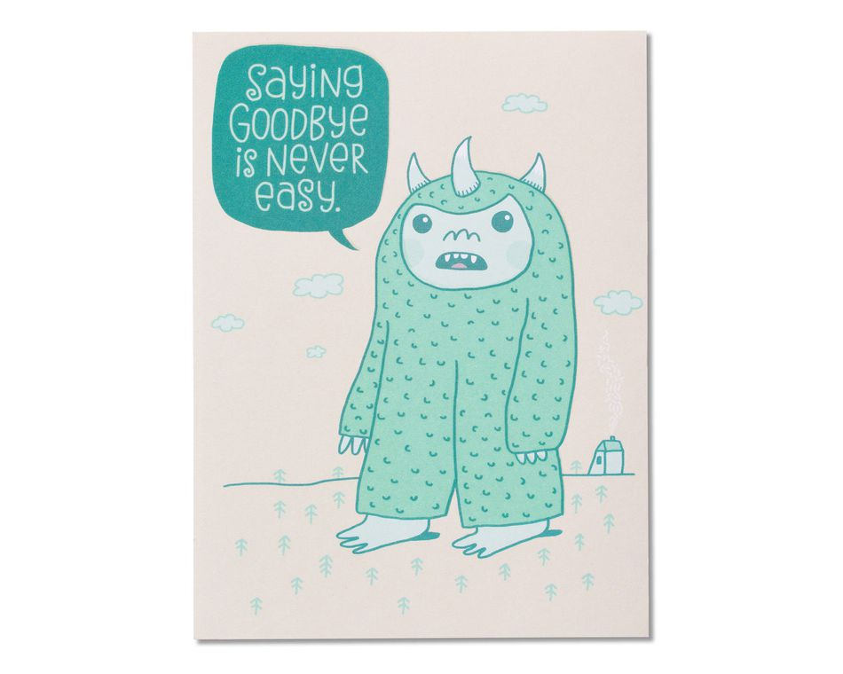 Goodbye Good Luck Card
