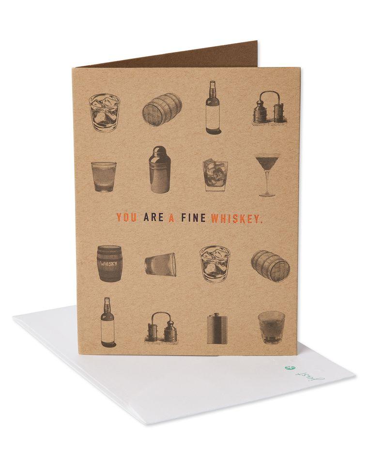 Whiskey Birthday Card