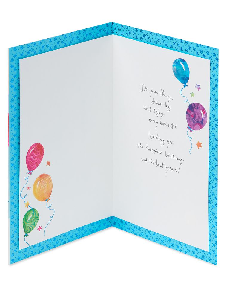 Kathy Davis Balloons Birthday Card