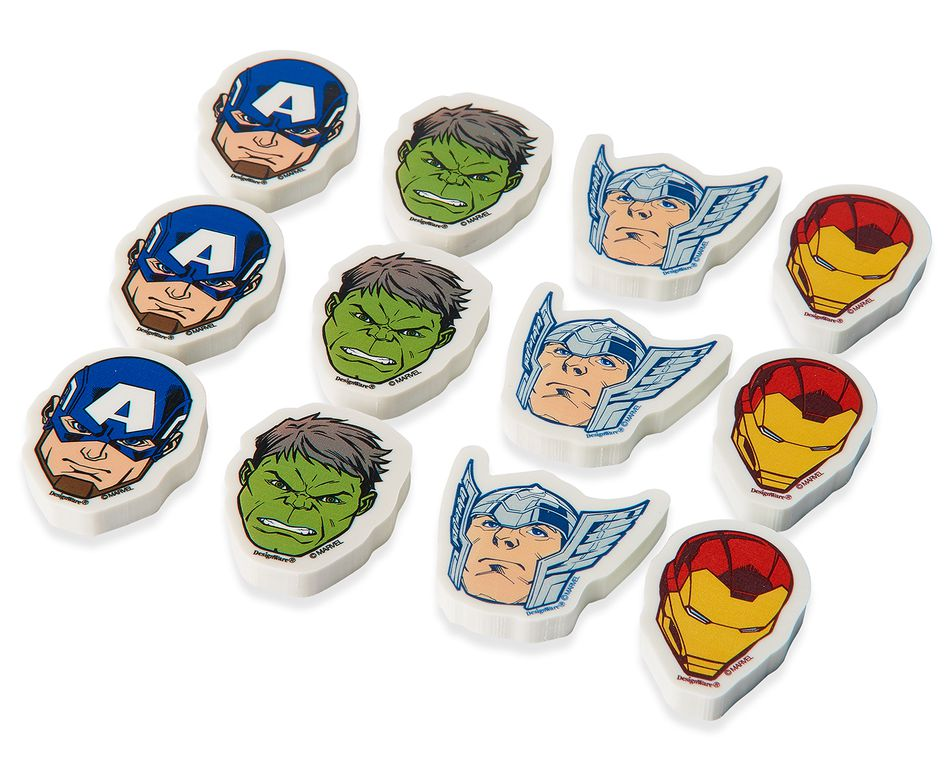 Avengers Epic Erasers, 12 Count, Party Supplies