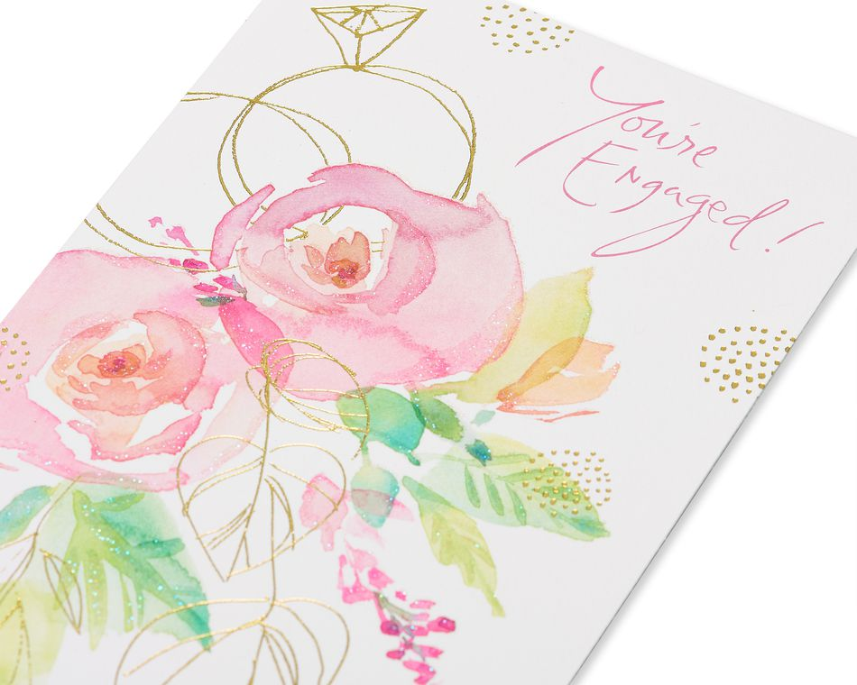 Kathy Davis Floral Engagement Card