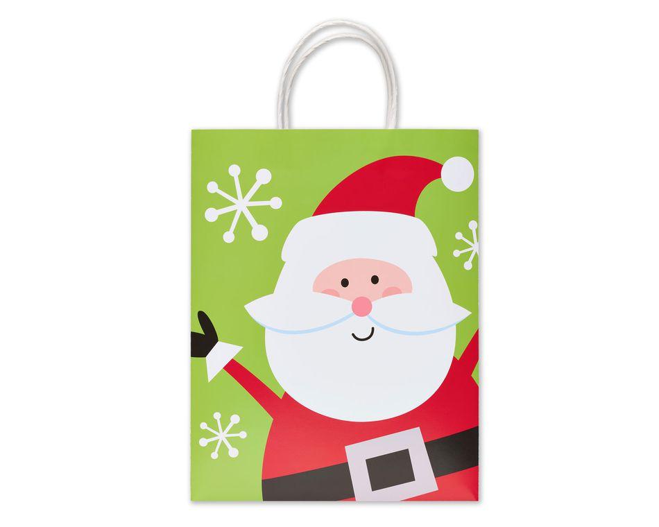 Happy Santa Medium Christmas Gift Bag