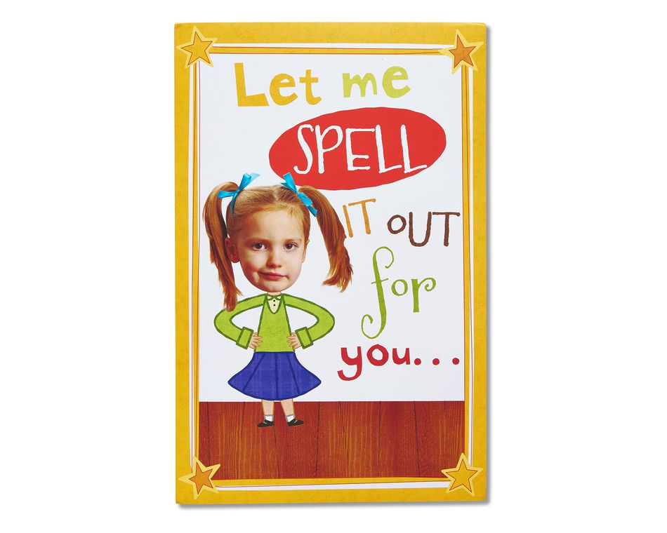 funny spelling bee birthday card