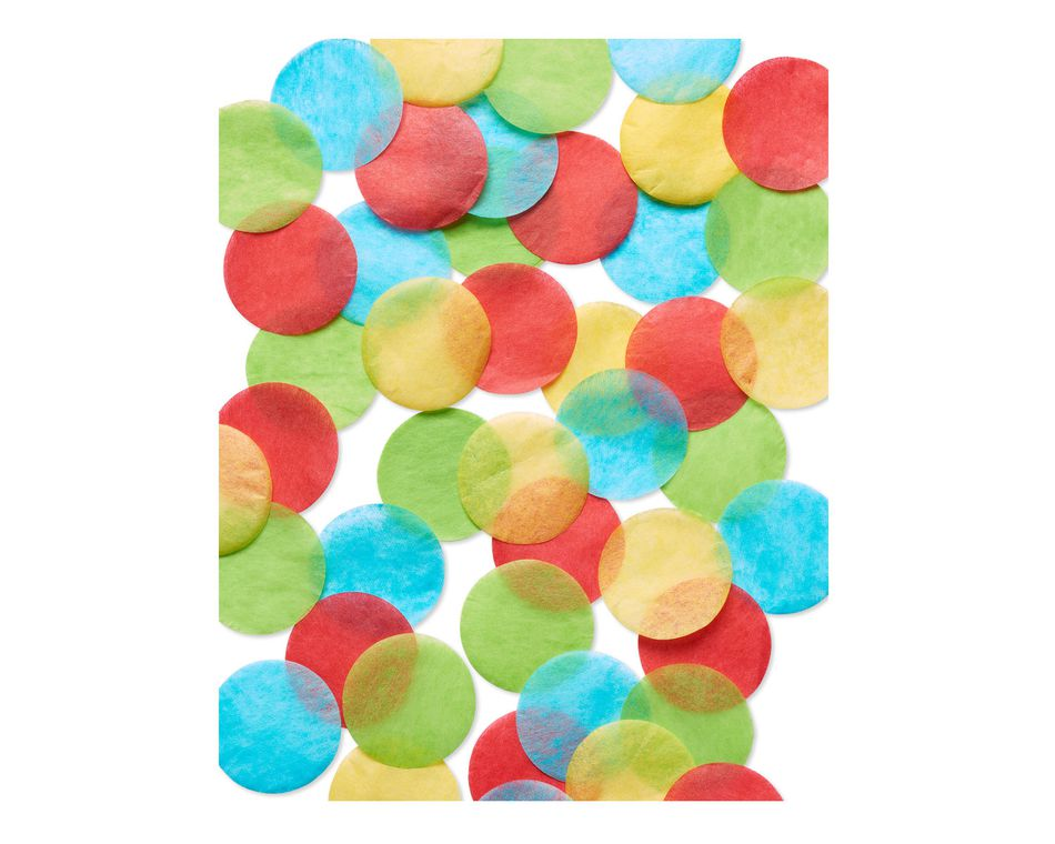 Colorful Round Tissue Confetti