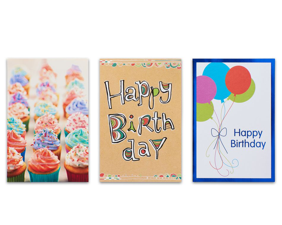 Variety Pack Birthday Cards And Envelopes 12 Count