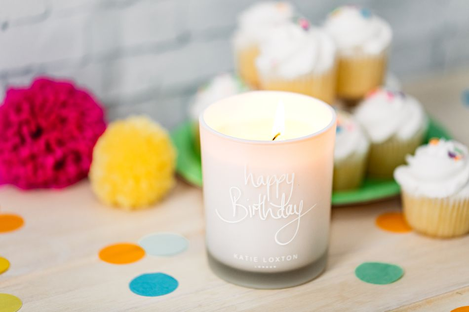 Katie Loxton Happy Birthday Candle Lifestyle Image