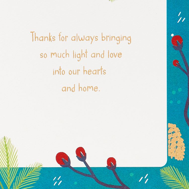 Christmas Thank You Greeting Card