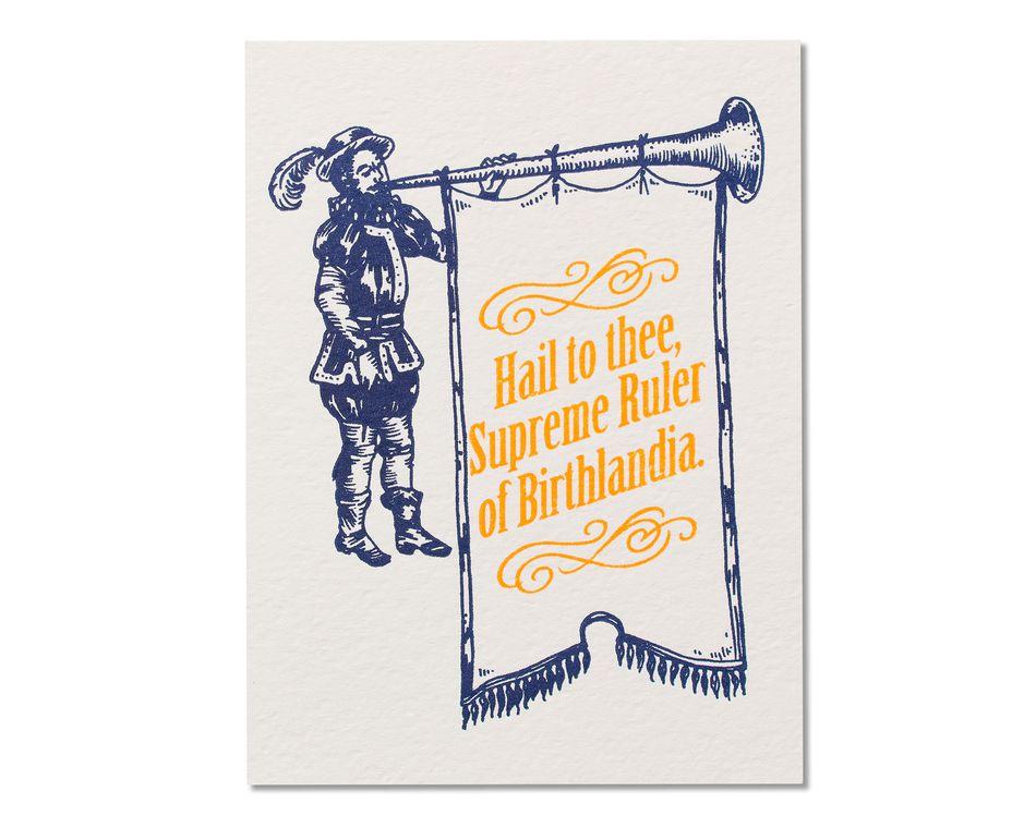 Birthlandia Birthday Card