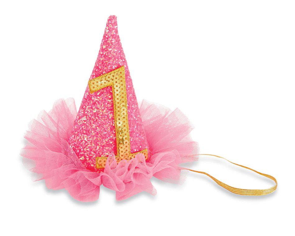 Mud Pie Birthday Girl Pink Glitter Party Hat