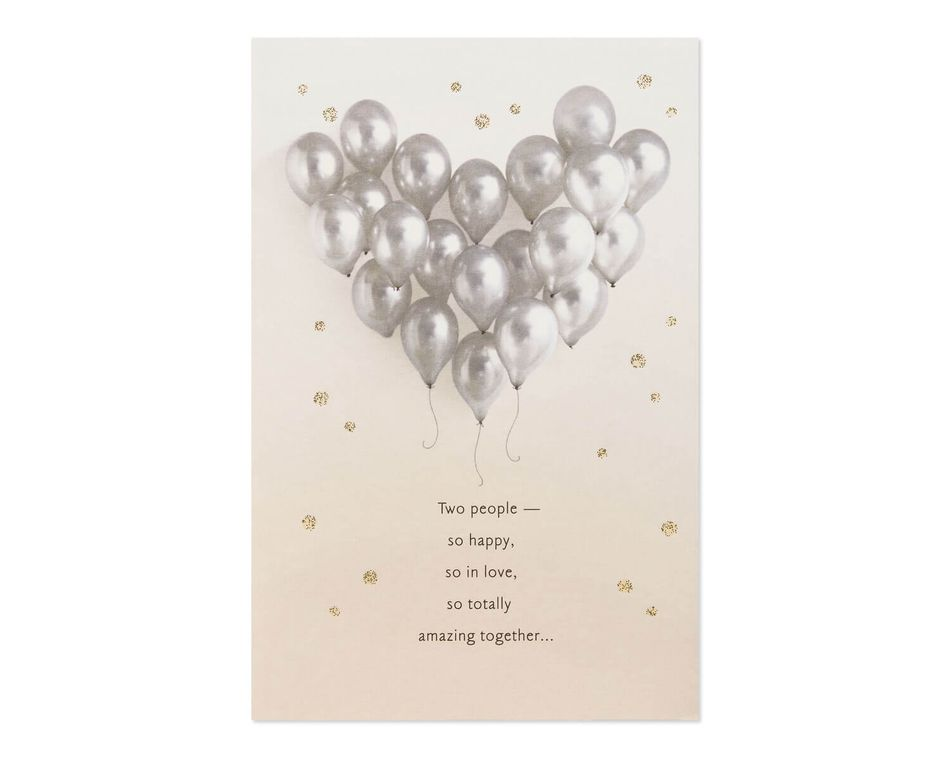 Balloons Bridal Shower Wedding Card