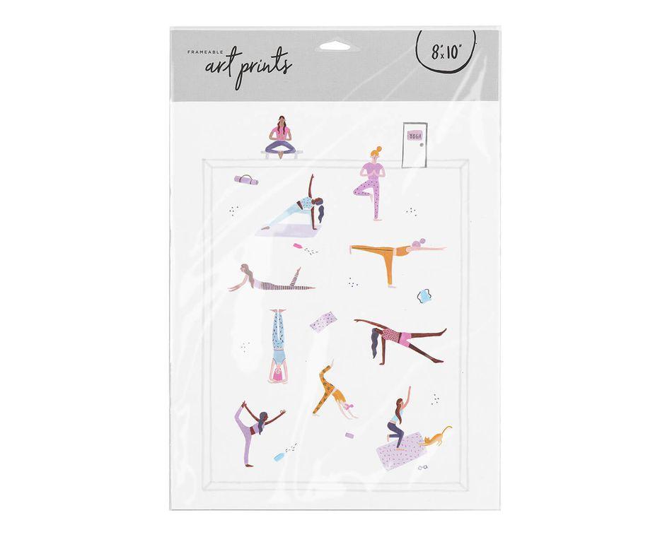 Yoga Girls Frameable Art Print, 8 in. x 10 in.