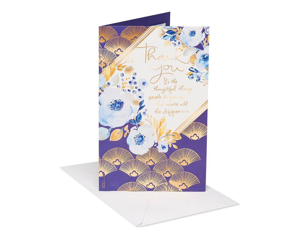 Kathy Davis Floral Thank You Card