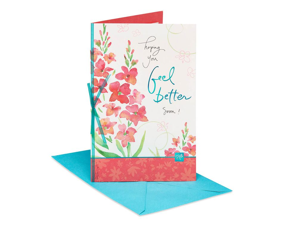 Kathy Davis Floral Get Well Soon Card